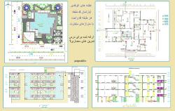 نقشه های اتوکدی آپارتمان4 طبقه، هرطبقه 4 واحده، نمونه اول