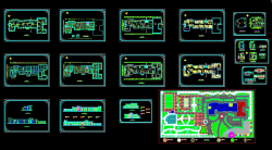 نقشه های اتوکدی هنرستان12 کلاسه 2 طبقه ای-نمونه اول