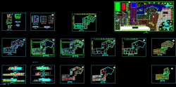 نقشه های اتوکدی هنرستان12 کلاسه 2 طبقه ای-نمونه سوم